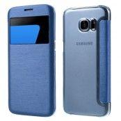 Mobilfodral med fönster till Samsung Galaxy S7 Edge - Blå
