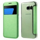 Mobilfodral med fönster till Samsung Galaxy S7 Edge - Grön