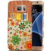 MobilSkal med kortfack till Samsung Galaxy S7 Edge - Blommar