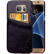 MobilSkal med kortfack till Samsung Galaxy S7 Edge - Svart