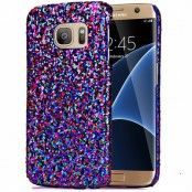 MobilSkal till Samsung Galaxy S7 Edge - Glitter Blå