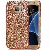 MobilSkal till Samsung Galaxy S7 Edge - Glitter Guld