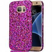 MobilSkal till Samsung Galaxy S7 Edge - Glitter Lila