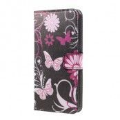 Plånboksfodral till Samsung Galaxy S7 Edge - Black Butterfly
