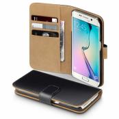Plånboksfodral till Samsung Galaxy S7 Edge - Svart/Brun