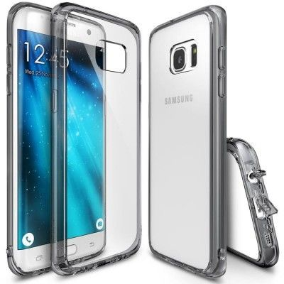 Ringke Fusion Shock Absorption Skal till Samsung Galaxy S7 Edge - Grå