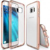 Ringke Fusion Shock Absorption Skal till Samsung Galaxy S7 Edge - Rose Gold