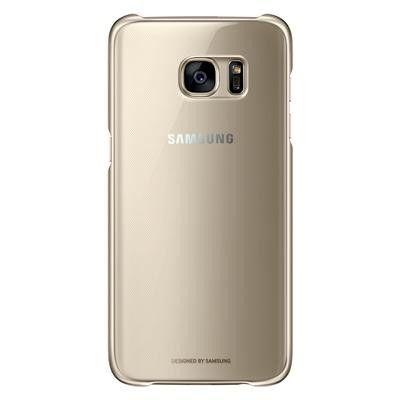 Samsung Clear Cover till Samsung Galaxy S7 Edge - Guld