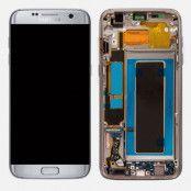 Samsung Galaxy S7 Edge Skärm LCD & touch - Original - Silver