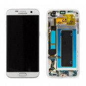 Samsung Galaxy S7 Edge Skärm LCD & touch - Original - Vit