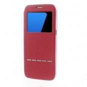 Slide to Answer fodral till Samsung Galaxy S7 Edge - Röd