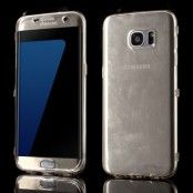 TPU Flip Shell Case till Samsung Galaxy S7 Edge - Guld