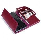 Trifold Plånboksfodral till Samsung Galaxy S7 Edge - Röd