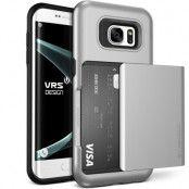 Verus Damda Glide Card Slot Skal till Samsung Galaxy S7 Edge - Silver