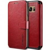 Verus Dandy Layered Plånboksfodral till Samsung Galaxy S7 Edge - Röd