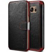 Verus Dandy Layered Plånboksfodral till Samsung Galaxy S7 Edge - Svart