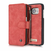 Caseme Detachable Plånboksfodral Samsung Galaxy S7 - Röd