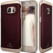 Caseology Envoy Äkta Läder Series Skal till Samsung Galaxy S7 - VinRöd