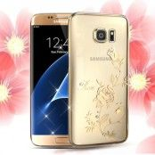 Kingxbar Skal med Swarovski Stenar till Samsung Galaxy S7 - Blomma