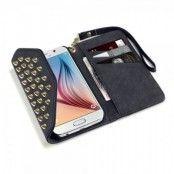 Studded Plånboksfodral till Samsung Galaxy S7 - Svart