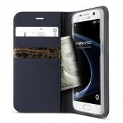 Verus Äkta läder Plånboksfodral till Samsung Galaxy S7 - Blå