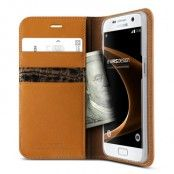 Verus Äkta läder Plånboksfodral till Samsung Galaxy S7 - Brun