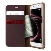 Verus Äkta läder Plånboksfodral till Samsung Galaxy S7 - Wine