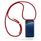 CoveredGear Necklace Case Samsung Galaxy S8 Plus - Maroon Cord
