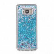Glitter Skal till Samsung Galaxy S8 Plus -  Blå