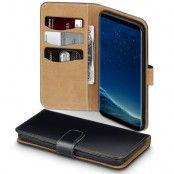Plånboksfodral Samsung Galaxy S8 Plus - Svart/Beige