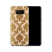 Skal till Samsung Galaxy S8 Plus - Damask - Guld/Persika