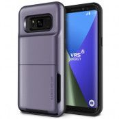 Verus Damda Folder Card Slot Skal till Samsung Galaxy S8 Plus - Orchid Grey