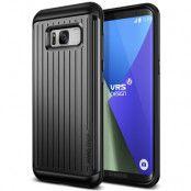 Verus Waved Hard Drop Skal till Samsung Galaxy S8 Plus - Dark Silver