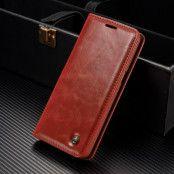 Caseme Oil Wax Plånboksfodral Samsung Galaxy S8 - Röd