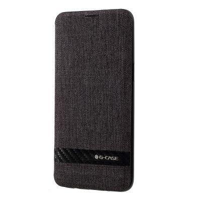 G-CASE Canvas Plånboksfodral Samsung Galaxy S8 - Svart
