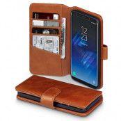 Plånboksfodral Äkta Läder Samsung Galaxy S8 - Cognac