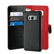 Puro Duetto Plånboksfodral Samsung Galaxy S8 - Svart/Röd