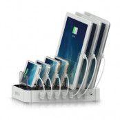 Satechi 7-portars USB-laddningsstation - Vit