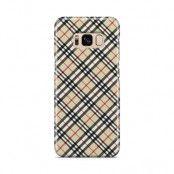 Skal till Samsung Galaxy S8 - Rutig diagonal - Beige