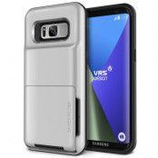 Verus Damda Folder Card Slot Skal till Samsung Galaxy S8 - Silver