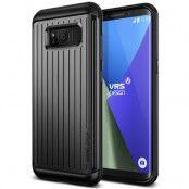 Verus Waved Hard Drop Skal till Samsung Galaxy S8 - Dark Silver