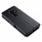 Carbon Plånboksfodral Samsung Galaxy S9 Plus - Svart
