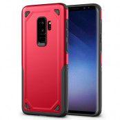 Hybrid Rugged Armor Skal till Samsung Galaxy S9 Plus - Röd