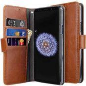 Melkco Plånboksfodral till Samsung Galaxy S9 Plus - Brun
