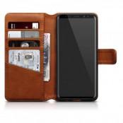 Plånboksfodral Äkta Läder Samsung Galaxy S9 Plus - Brun