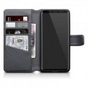 Plånboksfodral Äkta Läder Samsung Galaxy S9 Plus - Grå