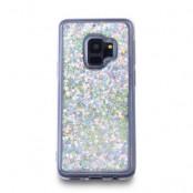 Glitter Skal till Samsung Galaxy S9 - Silver