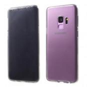 Touchable Front + Back TPU Mobilskal till Galaxy S9 - Grå