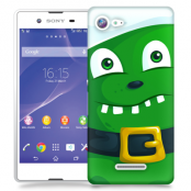 Skal till Sony Xperia E3 - Grönt slajm-monster