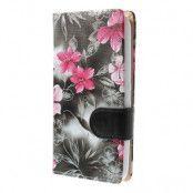 Plånboksfodral till Sony Xperia E4 - Blommor
